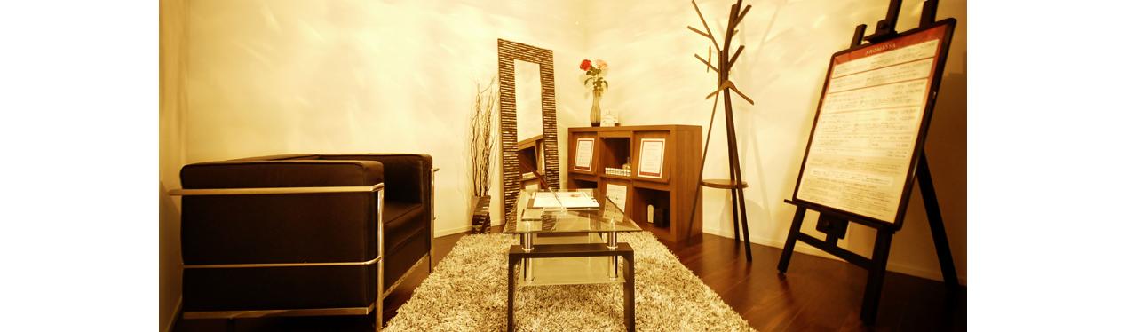 施術ルームはすべて完全個室のプライベート空間